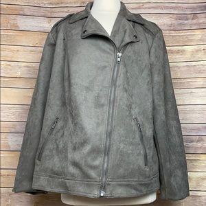 Philosophy faux suede moto jacket, Sz 2X